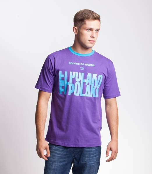 El Polako SLOTMACHINE T-Shirt Fioletowy