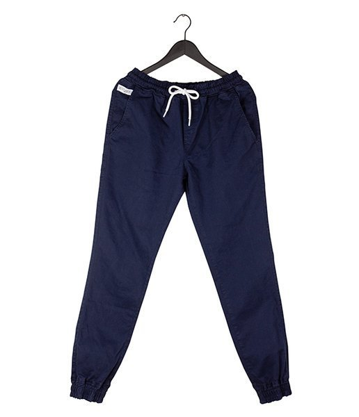 Elade Spodnie Joggery ICON MINI LOGO Granatowe