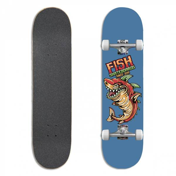 Fish Skateboards Deskorolka Kompletna BEGINNER ZAC 8.0