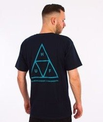 HUF-Triple Triangle sp16 T-Shirt Granatowy