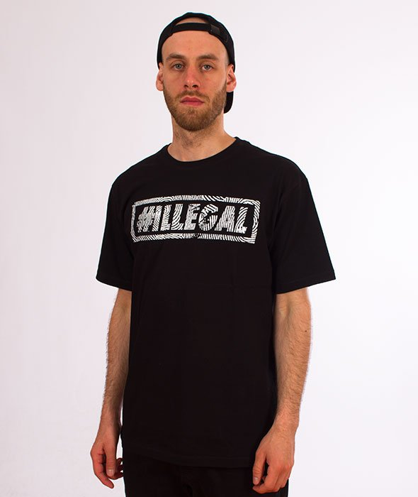 Illegal-Odcisk T-Shirt Czarny