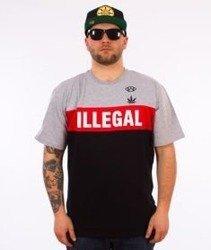 Illegal-Red T-Shirt Szary/Czerwony/Czarny