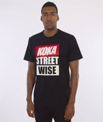 Koka-Wise Street T-Shirt Czarny