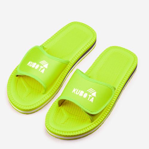 Kubota Rzep Klapki Zielony Neon