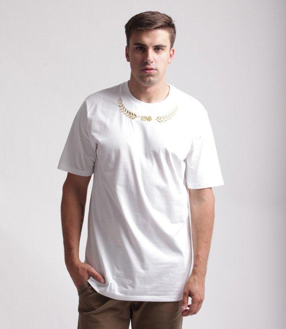 Lucky Dice Laurel T-Shirt Biały/Złoty