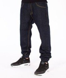 Mass-Base Denim Jogger Pants Spodnie Dark Blue