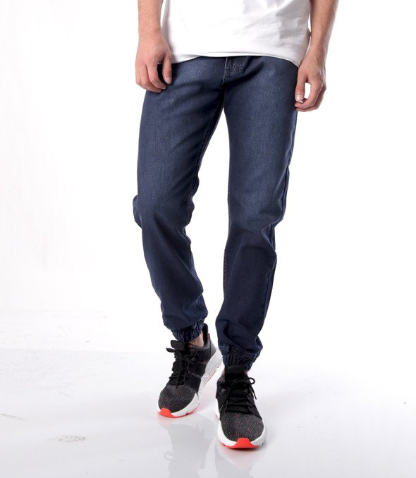 Mass-Base Jogger Jeans Spodnie Dark Blue