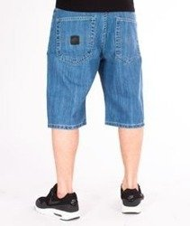 Mass-Base Spodnie Krótkie Jeans Light Blue