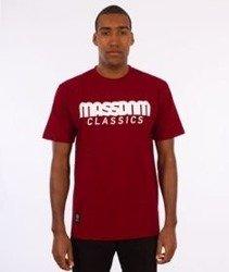 Mass-Classics T-shirt Bordowy