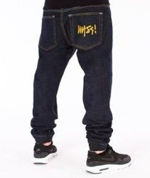 Mass-Signature Denim Sneakers Fit Jogger Dark Blue