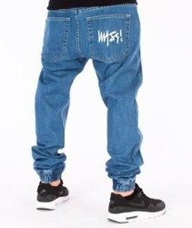 Mass-Signature Denim Sneakers Fit Jogger Light Blue