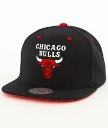 Mitchell & Ness-Chicago Bulls Solid Velour Logo Snapback VV19Z Czarny/Czerwony