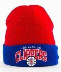 Mitchell & Ness-LA Clippers EU349 Archet Cuff Knit Czapka Zimowa Czerwona/Niebieska