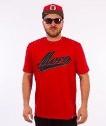 Moro Sport-Baseball Shadow T-Shirt Czerwony