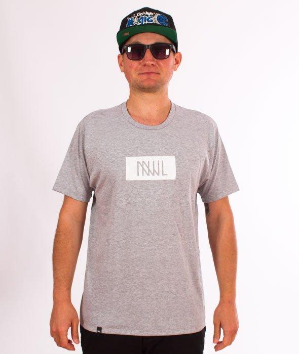 NNJL-Box Logo T-shirt Szary