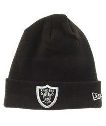 New Era-Oakland Raiders Team Essential Cuff Czapka Zimowa Czarna