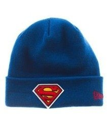 New Era-Superman Team Essential Cuff Czapka Zimowa Niebieska