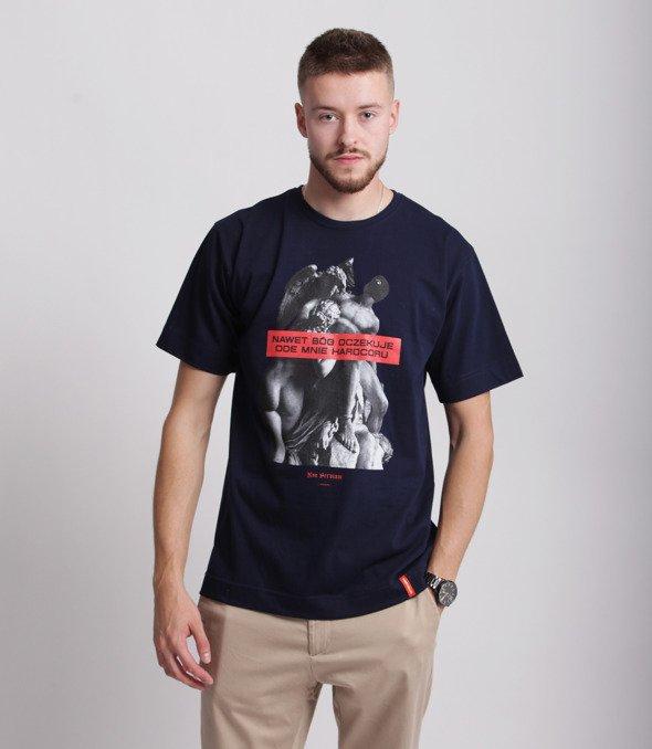 Pihszou-Hardcore T-shirt Granatowy