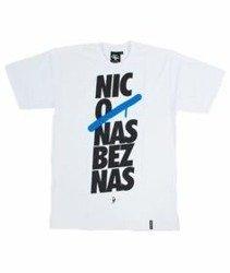 Pihszou-Nic O Nas Bez Nas T-shirt Biały