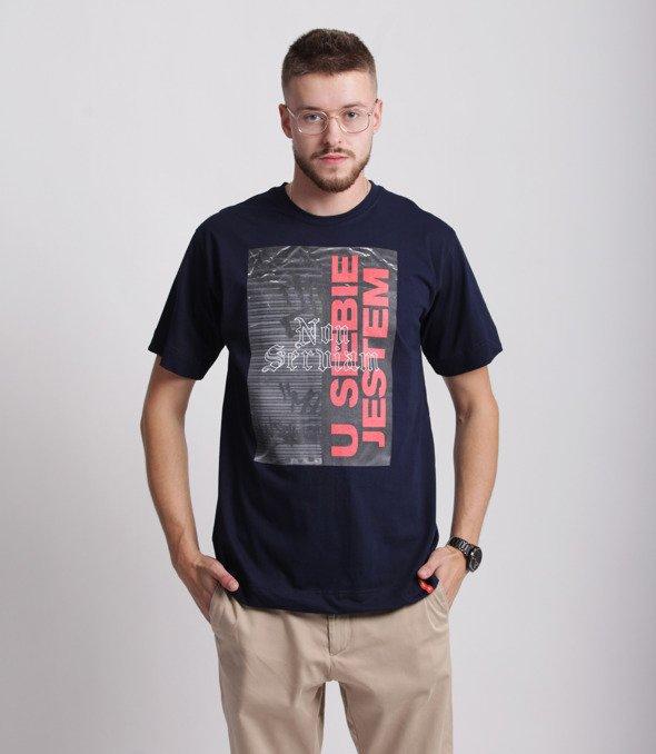 Pihszou-U Siebie Jestem T-shirt Granatowy