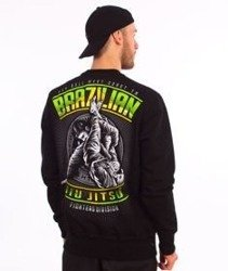 Pit Bull West Coast-Brazilian Jiu Jitsu Crewneck Bluza Czarna