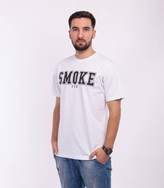 Smoke Story FRONT BACK T-Shirt Biały
