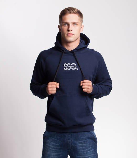 Smoke Story SSG 3D EFFECT Bluza z Kapturem Granatowy
