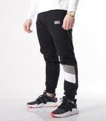 SmokeStory-Cross Lines Spodnie Slim Czarny