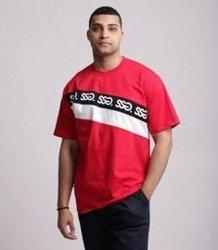 SmokeStory-Cross Lines T-Shirt Czerwony