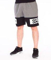 SmokeStory-Double SSG Premium Krótkie Spodnie Dresowe Szare/Czarne