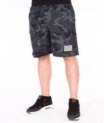 SmokeStory-Flag Moro Lines Premium Krótkie Spodnie Dresowe Czarne Moro