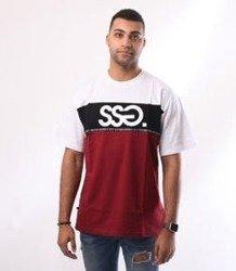 SmokeStory-Line SSG T-Shirt Biały/Bordowy