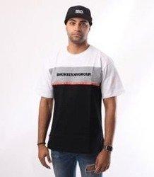 SmokeStory-One Line T-Shirt Biały/Czarny