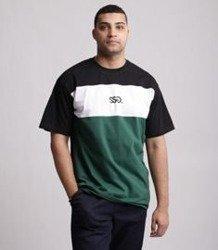 SmokeStory-Three Colors Small SSG T-Shirt Czarno Zielony