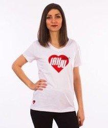 Stoprocent-Fakju T-Shirt Damski Biały