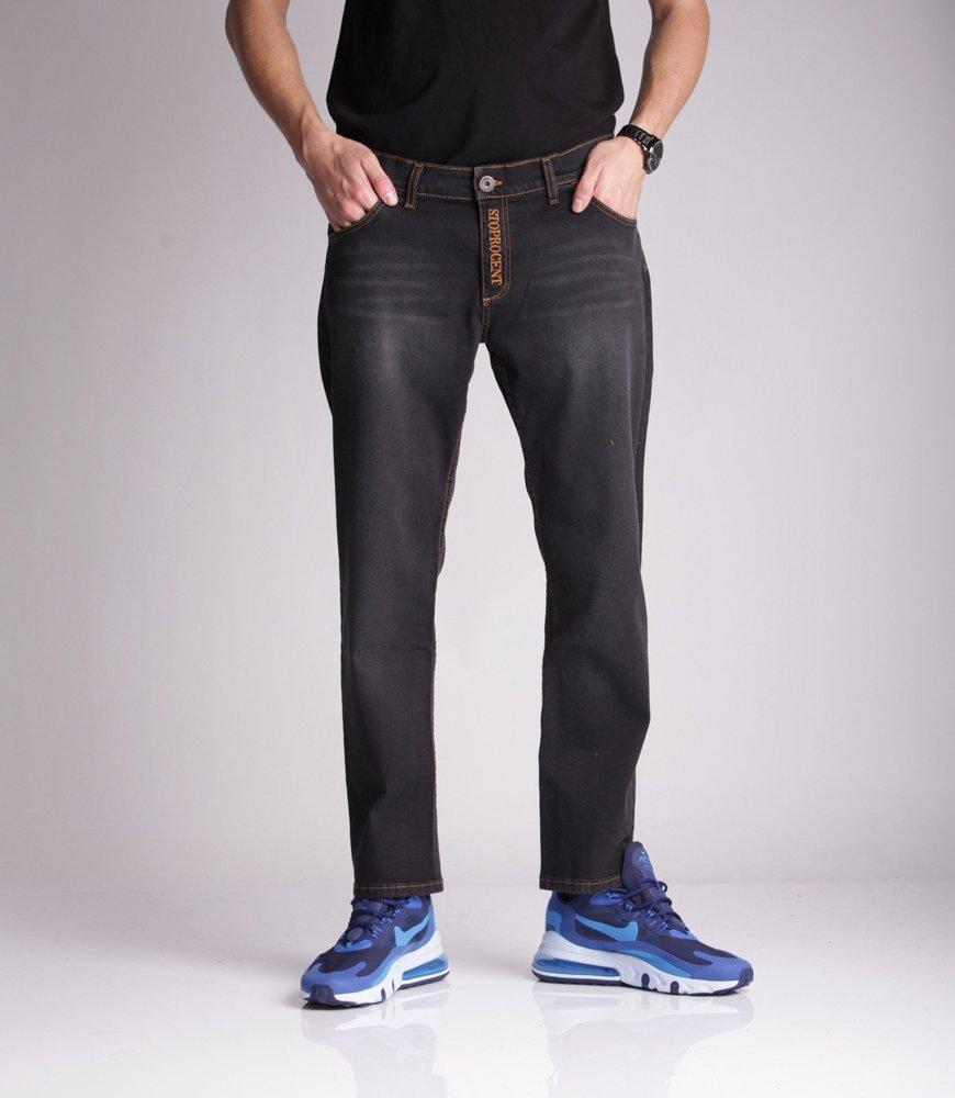 Stoprocent SJ DUEL Spodnie Jeans Czarny
