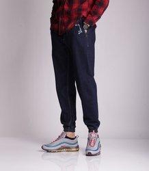 Stoprocent-SPODNIE JOGGER SJG CLASSIC Jeans Ciemne Spranie