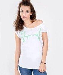 Stoprocent-Tagirl T-Shirt Damski Biały/Miętowy