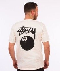 Stussy-8 Ball Pig. Dyed T-Shirt Natural