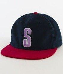 Stussy-Vintage S Snapback Granatowy