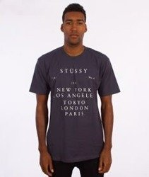 Stussy-World Touring T-Shirt Midnight