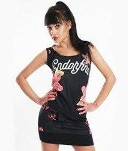 Endorfina-SU Flow Sukienka sportowa z kapturem Czarna