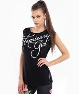 Endorfina-TDB Heartcore Script T-Shirt Damski Czarny