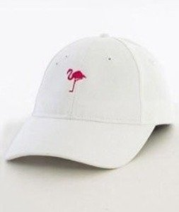 Hype-Flamingo Dad Hat Czapka Z Daszkiem White