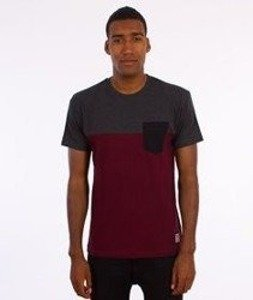 Iriedaily-Block Pocket T-Shirt Anthra Red