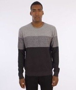 Iriedaily-Seed Degrade Knit Sweter Charcoal Mel.