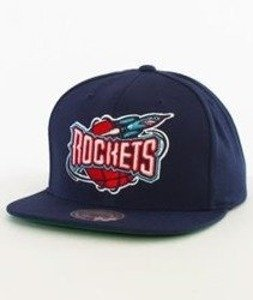 Mitchell & Ness-Houston Rockets Wool Solid 2 Snapback NL15Z Navy