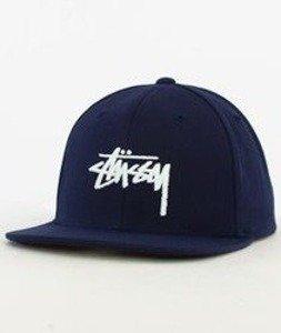 Stussy-Stock Fa16 Snapback Granatowy