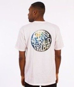 Stussy-Swt Globe T-Shirt Biały