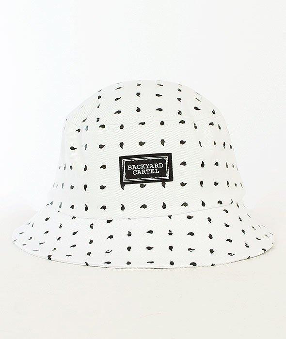 Backyard Cartel-Paisley Bucket Hat White